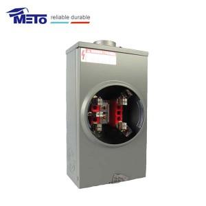 MT-200-5J-RL low price 200 amp dual 5th terminal jaw gang Square Base meter socket
